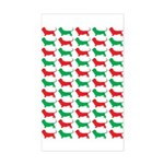 Bassett Hound Christmas or Holiday Silhouette Stic