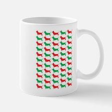 Bassett Hound Christmas or Holiday Silhouette Mug