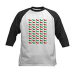 Bassett Hound Christmas or Holiday Silhouette Kids