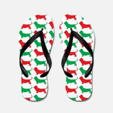 Bassett Hound Christmas or Holiday Silhouette Flip