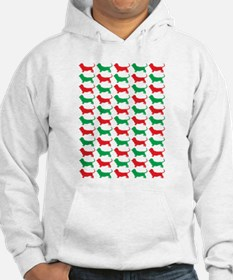 Bassett Hound Christmas or Holiday Silhouette Hood