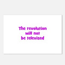 The revolution will not be te Postcards (Package o