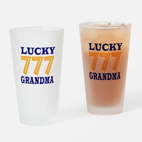 Lucky Grandma Drinking Glass