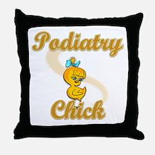 Podiatrist Chick #2 Throw Pillow