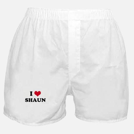 I HEART SHAUN Boxer Shorts