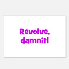 Revolve, damnit! Postcards (Package of 8)