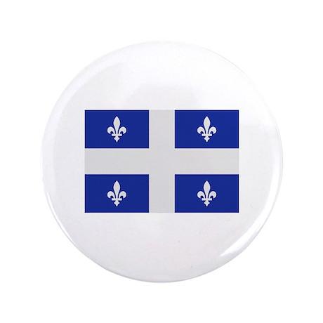 """Quebec Canada flag 3.5"""" Button"""