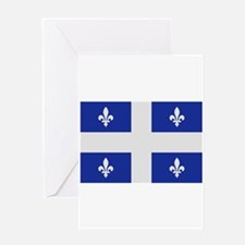 Quebec Canada flag Greeting Card