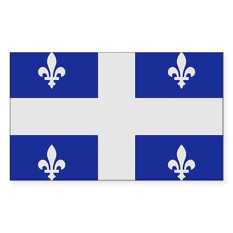 Quebec Canada flag Sticker (Rectangle)