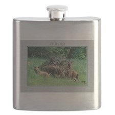 Alaska Brown Bear Cubs Flask