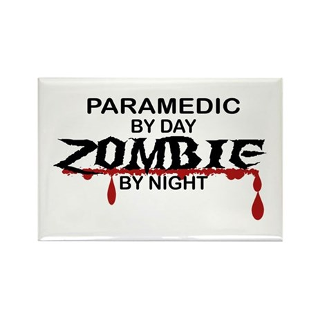 Paramedic Zombie Rectangle Magnet