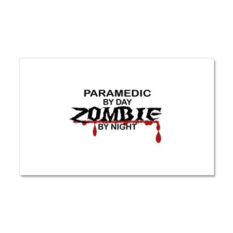 Paramedic Zombie Car Magnet 20 x 12