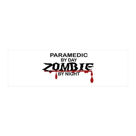 Paramedic Zombie 20x6 Wall Decal