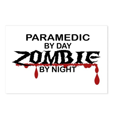 Paramedic Zombie Postcards (Package of 8)