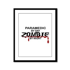 Paramedic Zombie Framed Panel Print