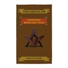 Custom Masonic 3'x5' Area Rug