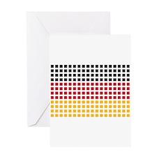 Germany flag pixel Greeting Card
