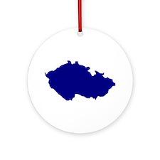 Czech Republic map Ornament (Round)