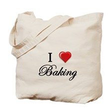 I Love Baking Tote Bag