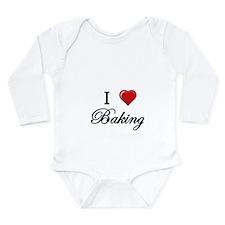 I Love Baking Baby Suit