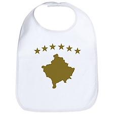Kosovo map flag Bib
