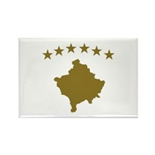 Kosovo map flag Rectangle Magnet
