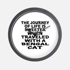Traveled With Bengal Cat Wall Clock