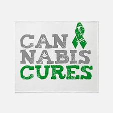 Cannabis Cures Throw Blanket