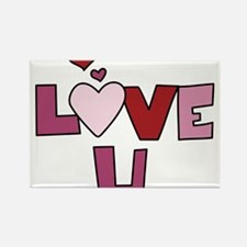 Love U Rectangle Magnet