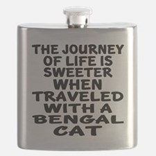 Traveled With Bengal Cat Flask