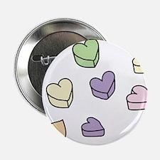 "Conversation Hearts 2.25"" Button"