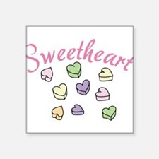 "Sweetheart Square Sticker 3"" x 3"""