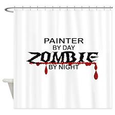 Painter Zombie Shower Curtain