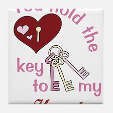 You Hold The Key Tile Coaster