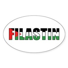 Palestine Oval Decal