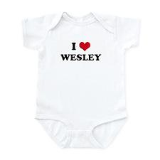 I HEART WESLEY Infant Creeper
