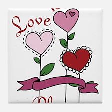 Love Is In Bloom Tile Coaster