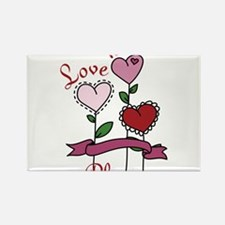 Love Is In Bloom Rectangle Magnet
