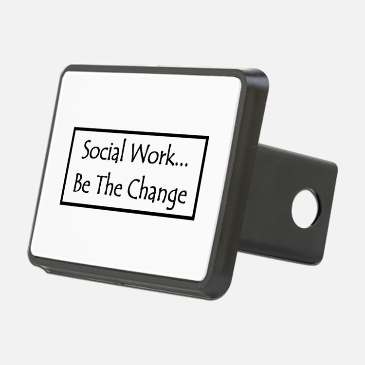 Social Work - Be The Change Hitch Cover