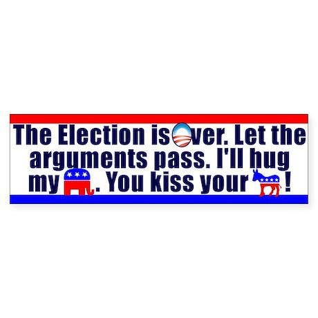 Kiss Your Ass Sticker (Bumper)