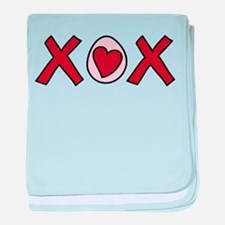 X O X baby blanket
