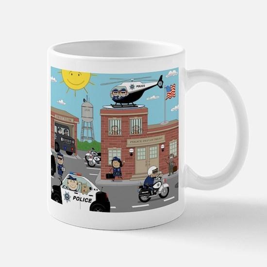 POLICE DEPARTMENT SCENE Mug