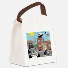 POLICE DEPARTMENT SCENE Canvas Lunch Bag