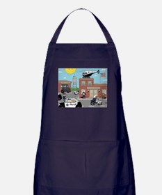 POLICE DEPARTMENT SCENE Apron (dark)