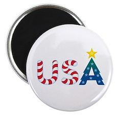 """USA Christmas: 2.25"""" Magnet (10 pack)"""