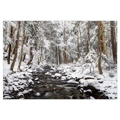 Stream in winter, Nova Scotia, Canada Framed Print