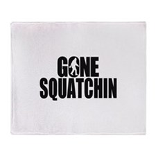 Gone Squatchin Sasquatch Throw Blanket