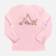 Funny Giraffe little sister Long Sleeve Infant T-Shirt