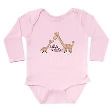 Unique Giraffe pink Long Sleeve Infant Bodysuit