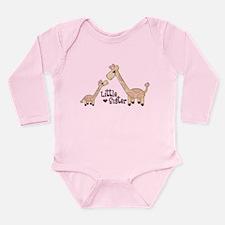 Cute Giraffe little sister Long Sleeve Infant Bodysuit